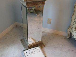 Mirrored pedestal stand 12 5 x 12 5  x 30 25  H