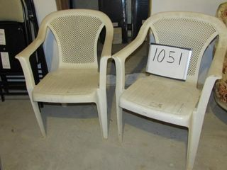 Pair of plastic exterior chairs