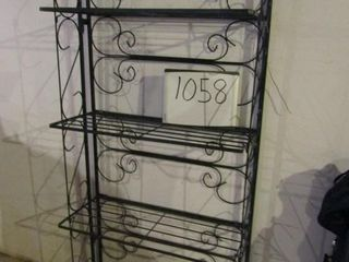 Folding bakers rack plant stand