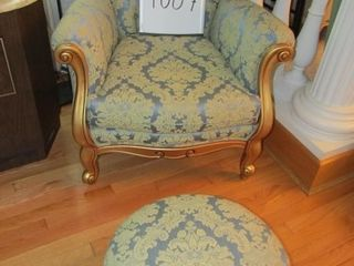 French Provincial Arm chair w ottoman