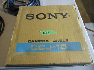 two sets of camera cablesIJ  one by Sony