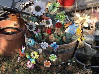 Waterfall   Flower Yard Art
