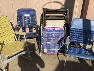8 Outdoor Folding Chairs