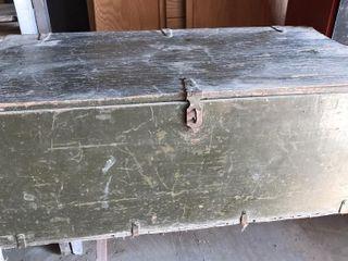 Vintage Wood Military locker