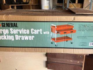 large Service Cart with locking Drawer