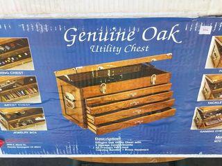 Genuine Oak Utility Chest
