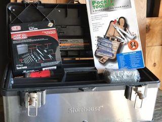 like New Storehouse Toolbox w  2 Tool Organizers