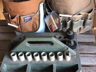 Wooden Tool Crate and 2 Bucket Organizers