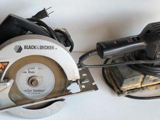 Black   Decker Circular Saw and Sander