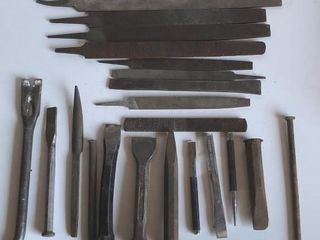 large Selection of Chisels  Awls  Rasps  Files