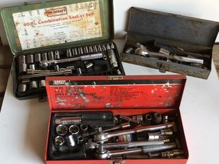 3 Socket Sets with Cases