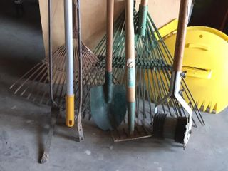 large Selection of lawn Tools