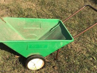 Metal Frame Green Gardening Cart