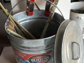 Behrens Steel Bucket with Clamps
