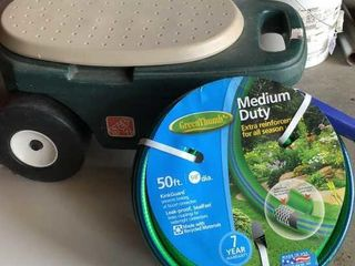 Gardening Wagon and Hose
