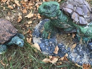 2  Concrete Turtles Yard Art