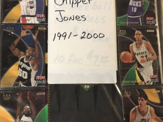 Binder Full of Several Hundred Chipper Jones Baseball Cards   lots of Inserts
