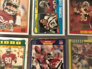 Binder of Several Hundred Jerry Rice Football Cards including Tons of Inserts
