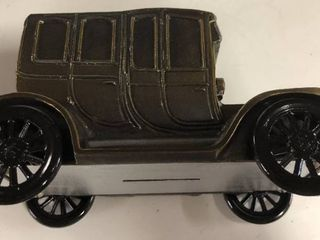 Vintage 1974 Banthirco Metal Coin Bank 1912 Packard Car New In Box