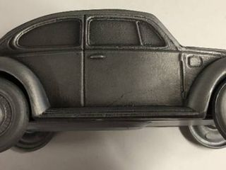 Vintage 1974 Banthirco Metal Coin Bank 1977 Volkswagen Bug New In Box