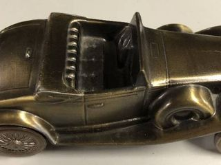 Vintage Bronze 1974 Banthirco Metal Coin Bank 1930 Cadillac Car