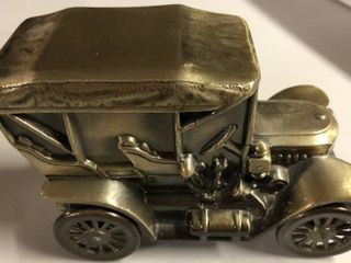 Vintage Bronze Banthirco Metal Coin Bank 1910 Stanley Car