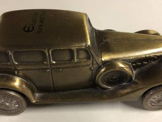 Vintage Bronze Banthirco Metal Coin Bank 1937 Rolls Royce Phantom