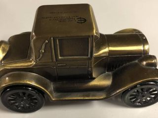 Vintage Bronze Banthirco Metal Coin Bank 1926 Pontiac Car