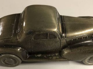 Vintage Bronze Banthirco Metal Coin Bank 1930 s Car