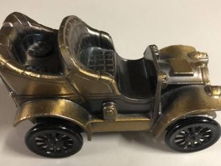 Vintage Bronze Banthirco Metal Coin Bank 1906 Oldsmobile Car