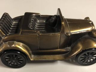 Vintage Bronze Banthirco Metal Coin Bank 1929 Ford Car