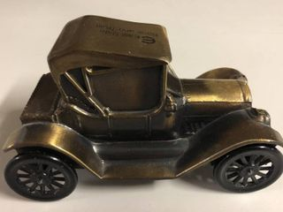 Vintage Bronze Banthirco Metal Coin Bank 1915 Chevrolet Car