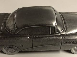 Vintage Pewter Banthirco Metal Coin Bank 1950 s Car