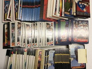 Huge Collection of 300  Ryne Sandberg Baseball Cards from 80 s and early 90 s  lots of 1984  1985  and 1986 cards