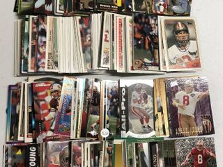 Huge Collection of 300  Steve Young Football Cards