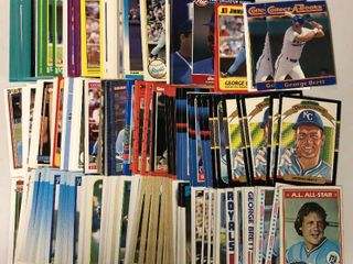 Huge Collection of Several Hundred George Brett Cards   Early 1980 s to 1990 s
