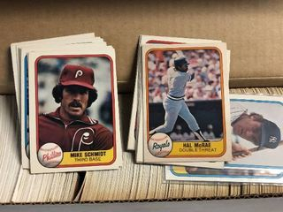 Complete 1981 Fleer Baseball Trading Card Set   All 660 Cards   First Fleer Set Ever Made