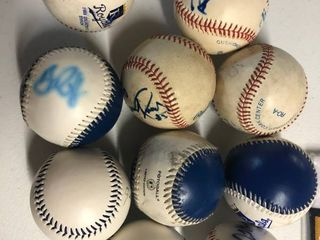 Collection of Ten Kansas City Royals Game Used and Signed Baseballs