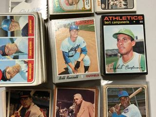 Collection of Hundreds of 1950 s  1960 s  and 1970 s Topps Baseball Cards   Some in Near Mint Condition Babe Ruth   Other Hall of Famers