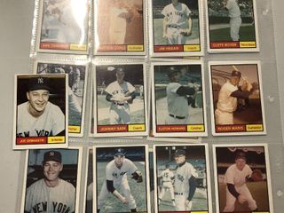 1982 Renata Galasso 1961 World Champions New York Yankees Complete Team Set of 27 cards including Mickey Mantle