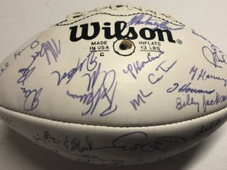 Team Signed 1980 s Season Kansas City Chiefs Football in Original Box