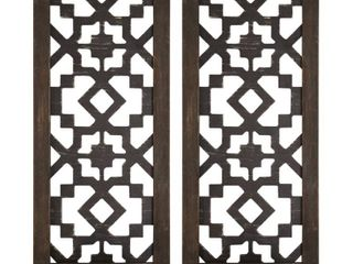 The Curated Nomad Theld Boho laser cut Candle Sconce   Set of 2