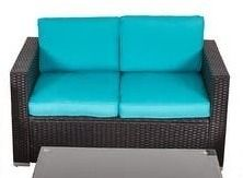 Kinbor Outdoor Patio Furniture Set Wicker Chat Set Sectional Sofa w  Cushions Retail 475 99