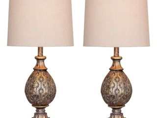Fangio lighting s 1600 27  Metal Table lamps   Set of 2