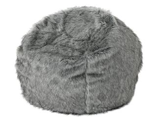 Warrin Furry Glam Faux Fur 3  Bean Bag by Christopher Knight Home
