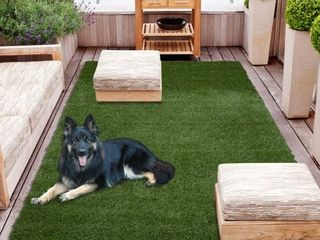 Sweethome Meadowland Collection Indoor Outdoor Artificial Grass Rug