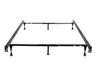 Brookside Metal Full Twin Heavy Duty Adjustable Bed Frame w  Glides