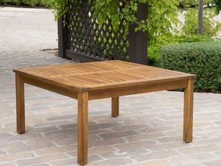 Perla Outdoor Acacia Wood Square Coffee Table by Christopher Knight Home Retail 146 49