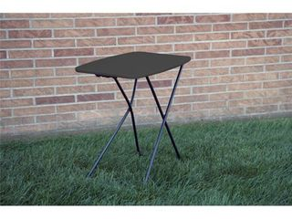 COSCO Indoor  Outdoor Adjustable Height 18 x 26 inch Personal Folding Tailgate Table