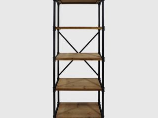 Driscoe Industrial 5 Shelf Firwood Bookcase by Christopher Knight Home